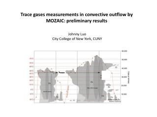 Trace gases measurements  in convective outflow by MOZAIC:  preliminary results