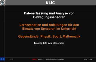 Datenerfassung und Analyse von Bewegungssensoren