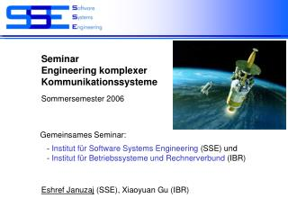 Seminar  Engineering komplexer  Kommunikationssysteme
