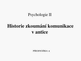Přednáška 2