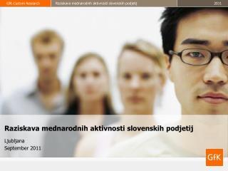 Raziskava mednarodnih aktivnosti slovenskih podjetij