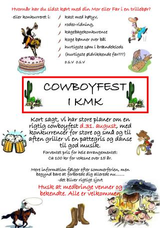 COWBOYFEST I KMK