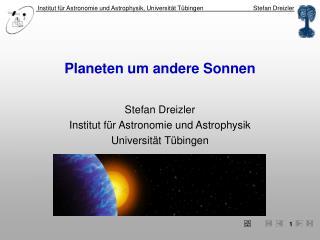 Planeten um andere Sonnen