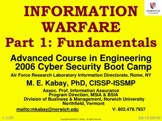 INFORMATION WARFARE Part 1: Fundamentals