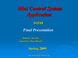 Mini Control System Application