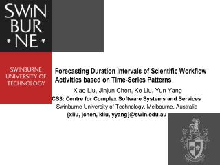 Forecasting Duration Intervals of Scientific Workflow Activities based on Time-Series Patterns