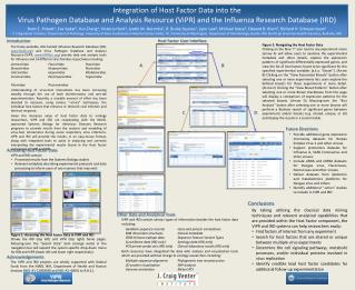 Integration of Host Factor Data into the