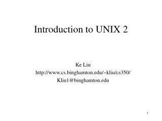Introduction to UNIX 2