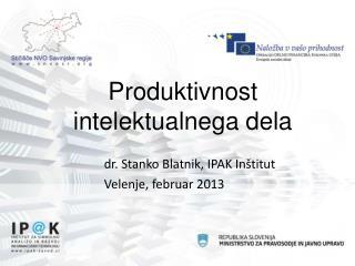 Produktivnost intelektualnega dela