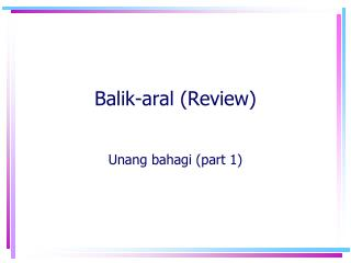 Balik-aral (Review)