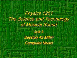 Physics 1251
