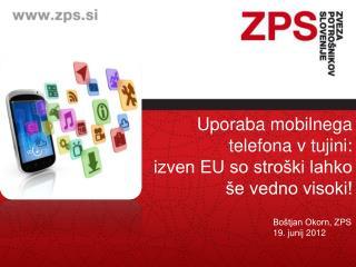 Uporaba mobilnega telefona v tujini: izven EU so stroški lahko še vedno visoki!