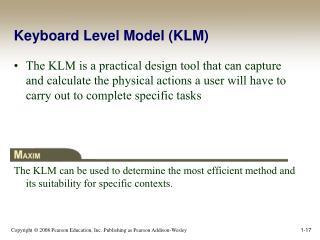 Keyboard Level Model (KLM)