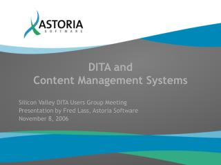 DITA and Content Management Systems