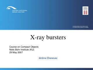 X-ray bursters