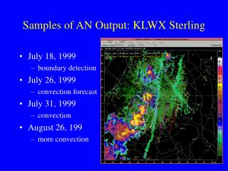 Samples of AN Output: KLWX Sterling