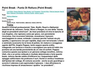 Point Break - Punto Di Rottura (Point Break) Cast