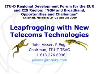 Leapfrogging with New Telecoms Technologies