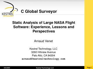 C Global Surveyor