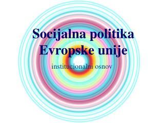 Socijalna politika Evropske unije