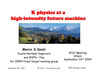 K physics at a  high-intensity future machine