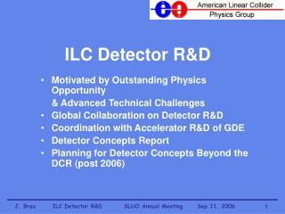 ILC Detector R&D