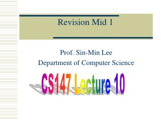 Revision Mid 1