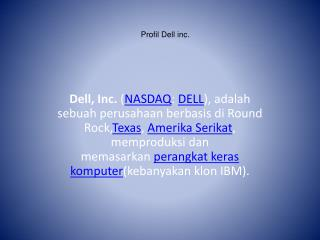 Profil  Dell inc.