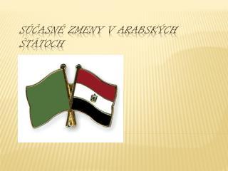 Súčasné zmeny v arabských štátoch