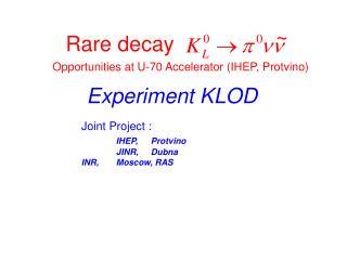 Rare decay