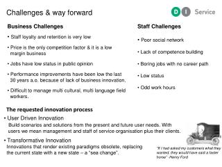 The requested innovation process