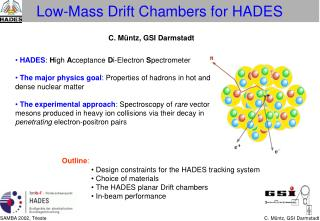Low-Mass Drift Chambers for HADES