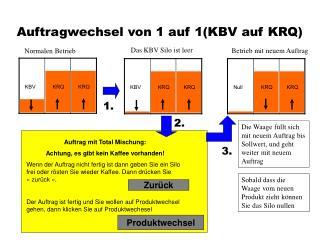 Auftragwechsel von 1 auf 1(KBV auf KRQ)