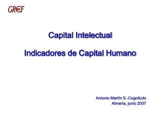 Capital Intelectual Indicadores de Capital Humano