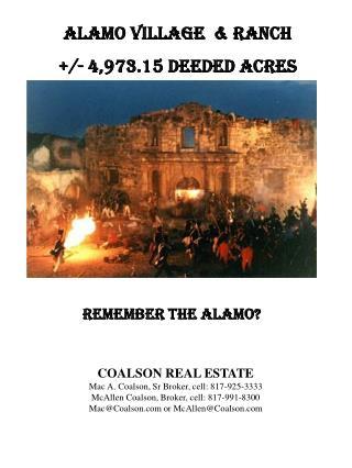 Alamo Village  & Ranch +/- 4,973.15 deeded acres