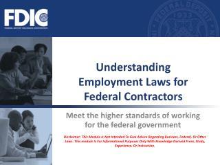 Understanding  Employment Laws for Federal Contractors