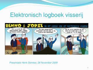 Elektronisch logboek visserij