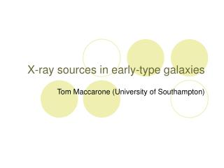 X-ray sources in early-type galaxies