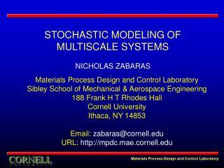 Materials Process Design and Control Laboratory