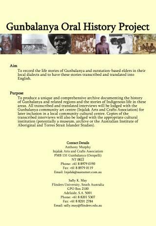 Gunbalanya Oral History Project