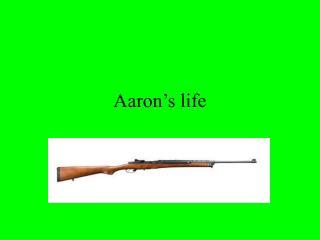 Aaron's life