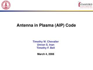 Antenna in Plasma AIP Code