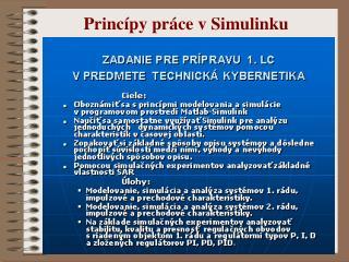 Princípy práce v Simulinku