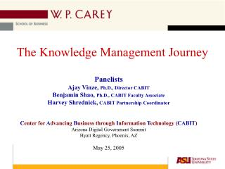 The Knowledge Management Journey