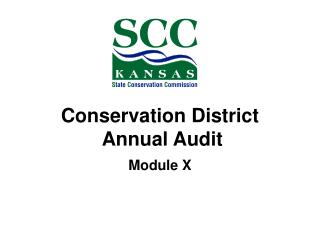 Conservation District  Annual Audit