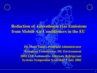 Reduction of  Greenhouse Gas Emissions from Mobile Air Conditioners in the EU