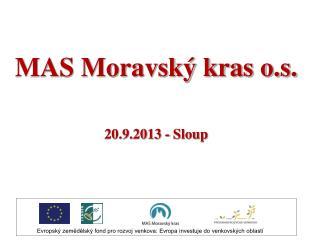 MAS Moravsk� kras o.s. 20.9.2013 - Sloup