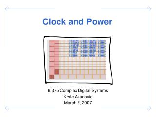 Clock and Power
