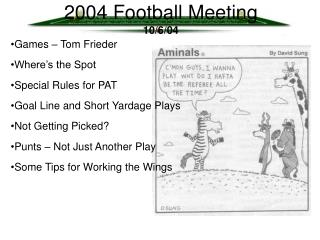 2004 Football Meeting 10/6/04