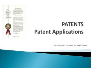 PATENTS Patent Applications
